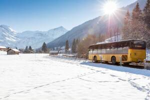 PostBus in winter