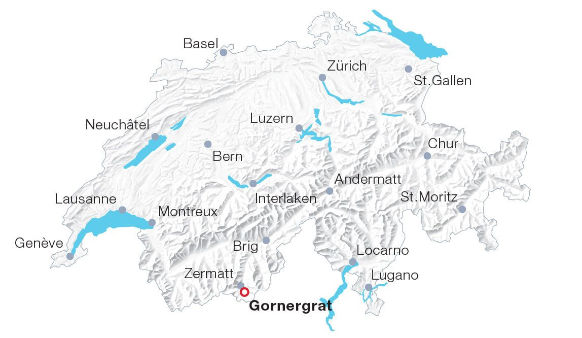 Map Gornergrat