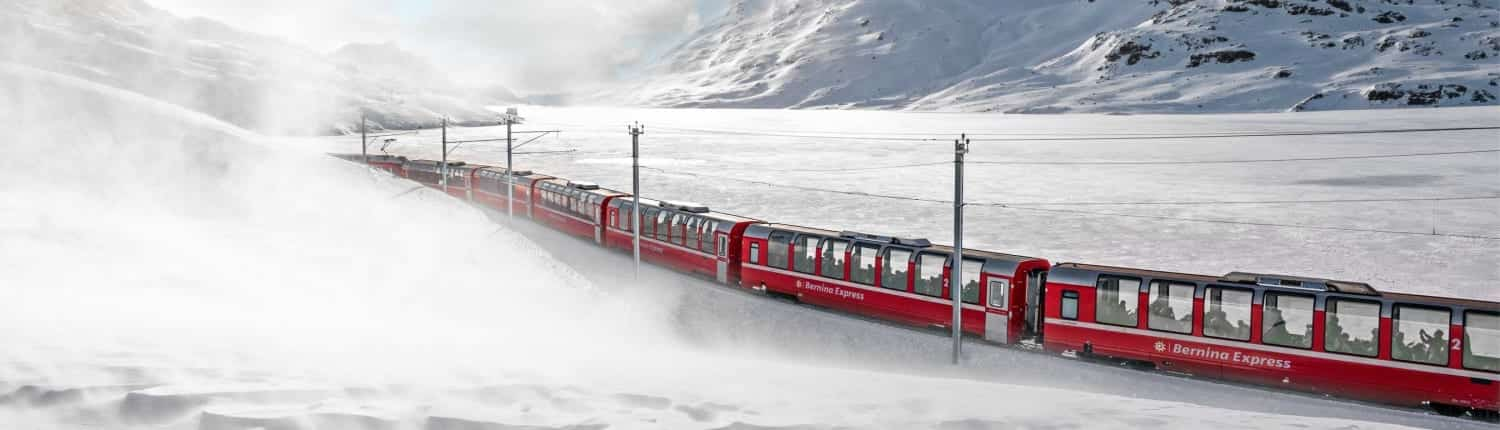 Grand Train Tour of Switzerland in winter