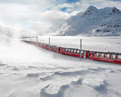 Grand Train Tour of Switzerland im Winter
