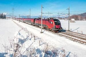 ÖBB Railjet im Winter
