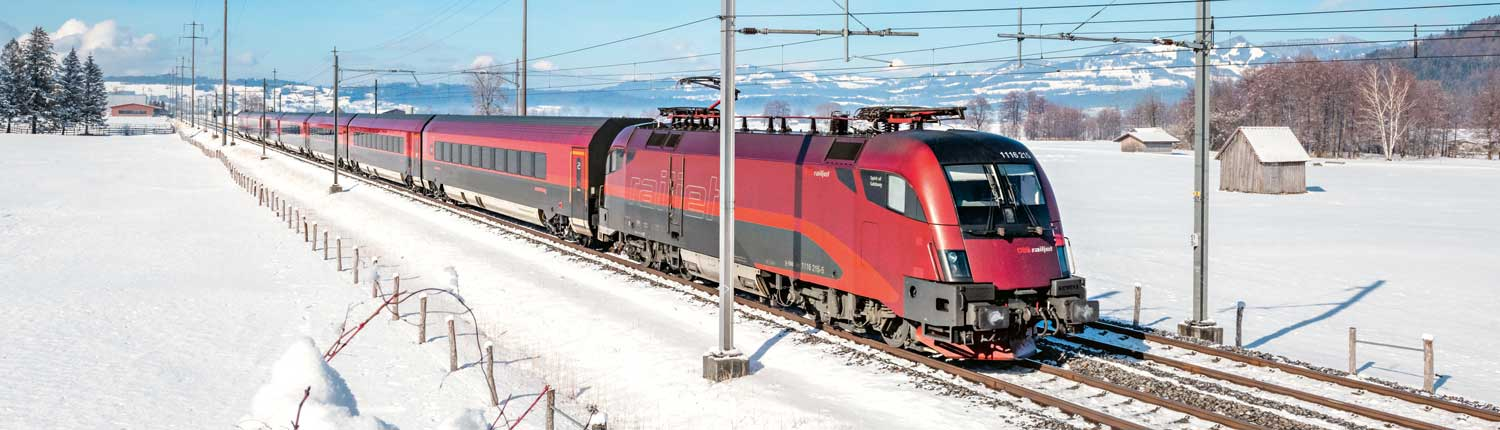 ÖBB Railjet in winter