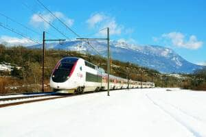 TGV Lyria in winter
