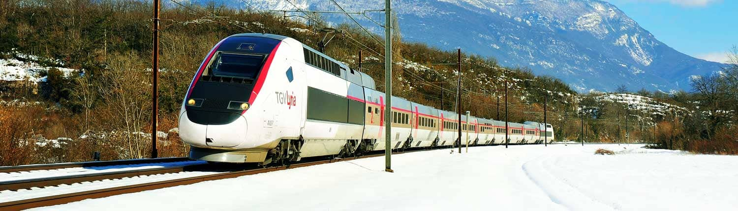 TGV Lyria im Winter