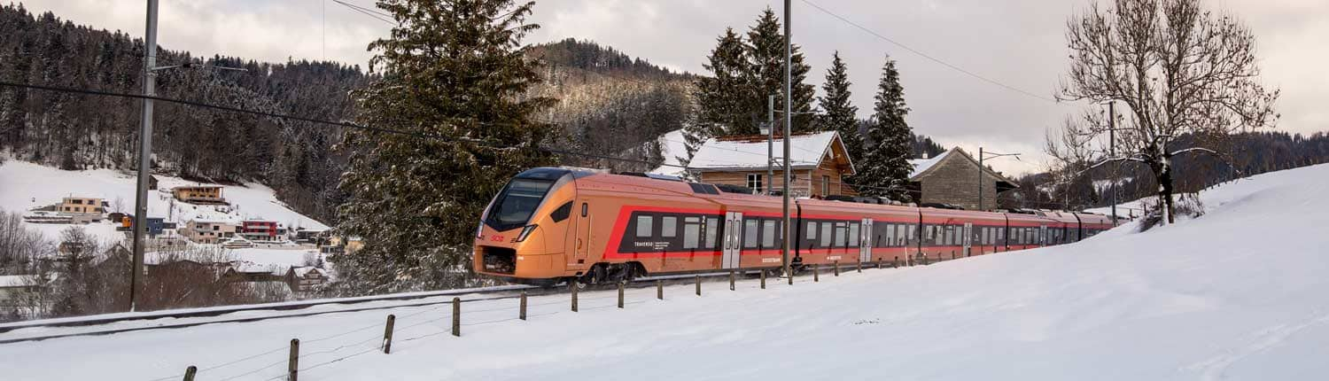 Voralpen-Express in winter