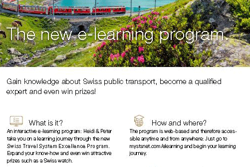 Flyer Swiss Travel System Excellence Program