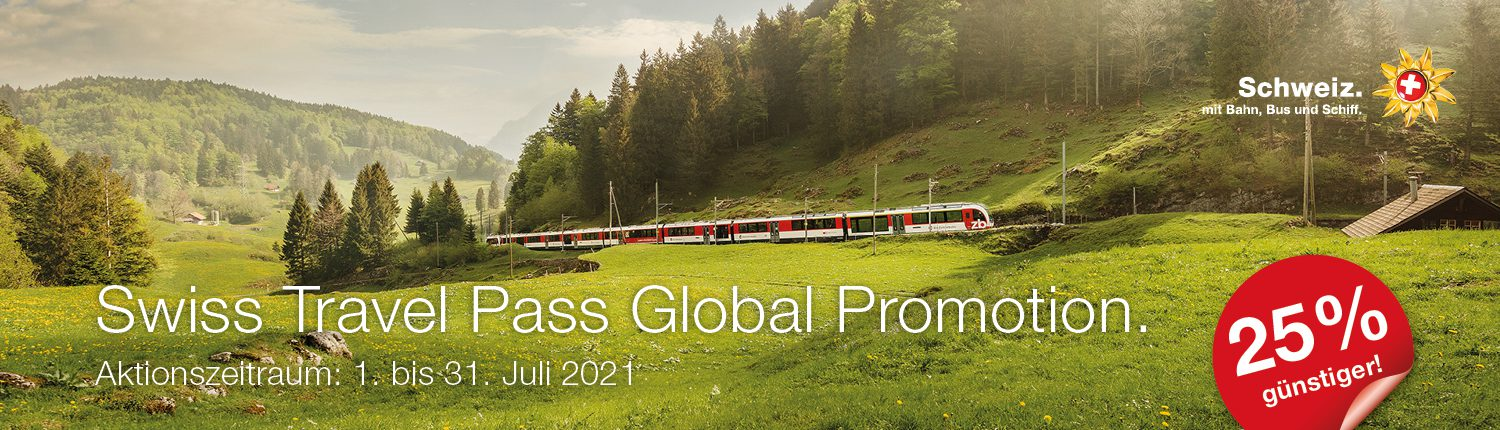 Swiss Travel Pass Global Promotion 2021