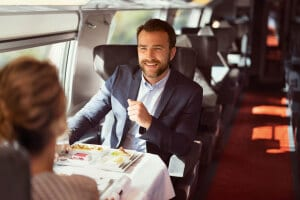 Lunch time on TGV Lyria